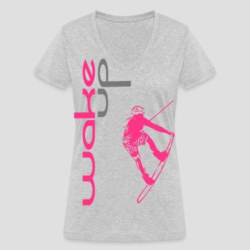 wake up for wakeboarding - Frauen Bio-T-Shirt mit V-Ausschnitt von Stanley & Stella
