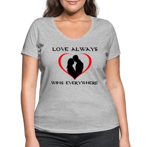 #love - T-shirt ecologica da donna con scollo a V di Stanley & Stella