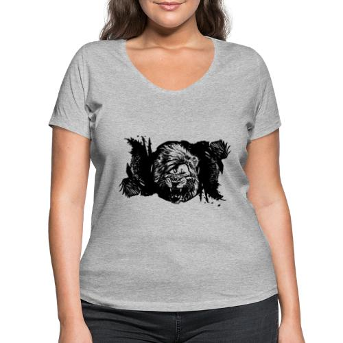 Raven & lion - T-shirt bio col V Stanley & Stella Femme