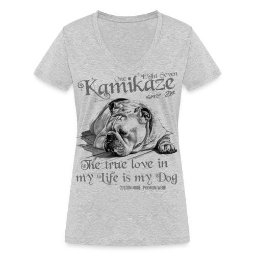 My Dog - Frauen Bio-T-Shirt mit V-Ausschnitt von Stanley & Stella