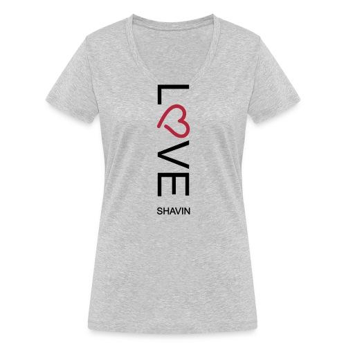 Love Shavin - Frauen Bio-T-Shirt mit V-Ausschnitt von Stanley & Stella