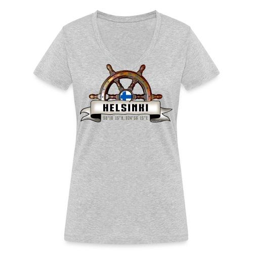 Helsinki Ruori - Merelliset tekstiilit ja lahjat - Stanley & Stellan naisten v-aukkoinen luomu-T-paita