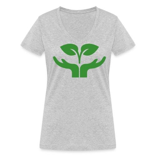 Pflanze einen Baum - Frauen Bio-T-Shirt mit V-Ausschnitt von Stanley & Stella