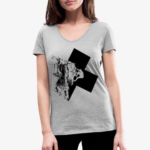 Escalada en roca - Women's Organic V-Neck T-Shirt by Stanley & Stella