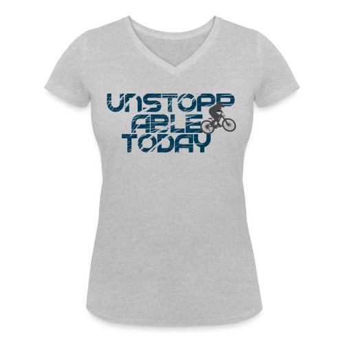 unstoppable today downhill - Frauen Bio-T-Shirt mit V-Ausschnitt von Stanley & Stella