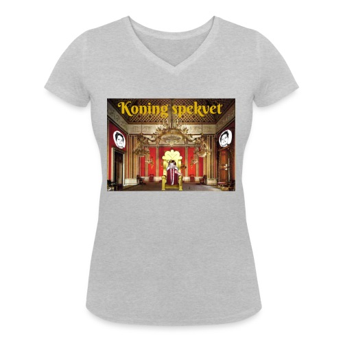 Koning Spekvet - Vrouwen bio T-shirt met V-hals van Stanley & Stella
