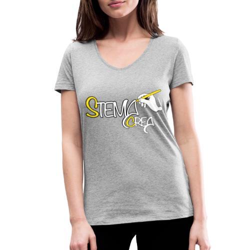 Stema CREA Logo - T-shirt bio col V Stanley & Stella Femme