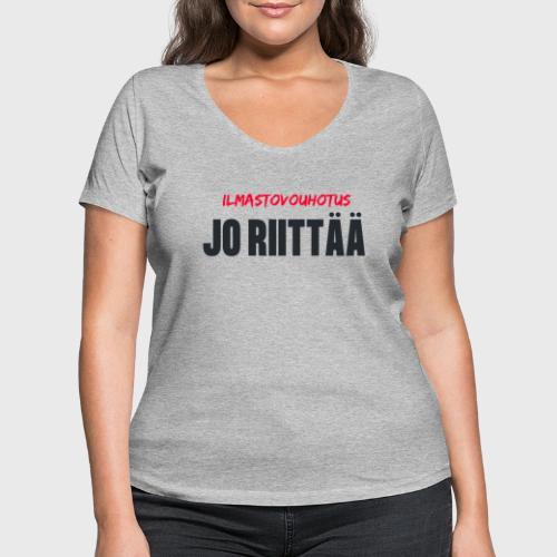 JO RIITTÄÄ - Stanley & Stellan naisten v-aukkoinen luomu-T-paita