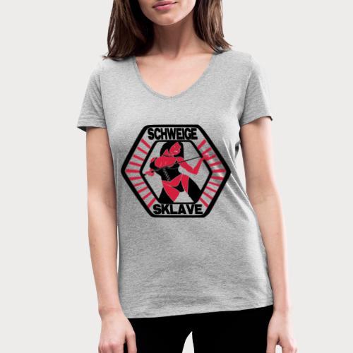 schweige sklave - Frauen Bio-T-Shirt mit V-Ausschnitt von Stanley & Stella