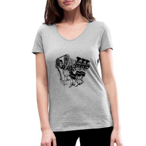 Motor - Frauen Bio-T-Shirt mit V-Ausschnitt von Stanley & Stella