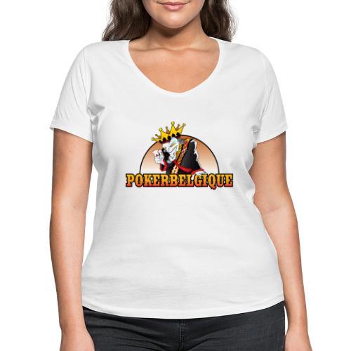 Logo Poker Belgique - T-shirt bio col V Stanley & Stella Femme