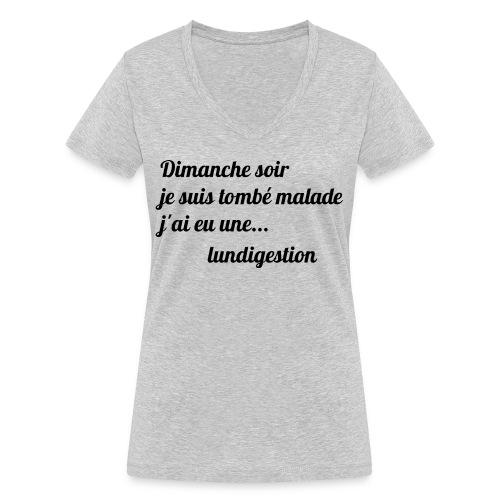 La lundigestion - T-shirt bio col V Stanley & Stella Femme