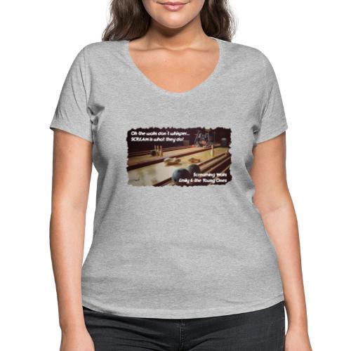Shirt Screaming Walls - Vrouwen bio T-shirt met V-hals van Stanley & Stella