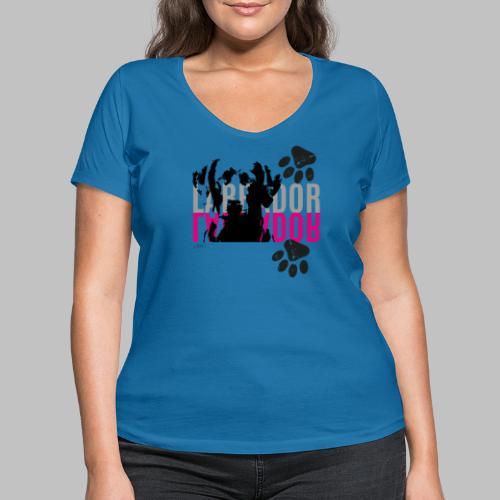 Labrador Kopf Pfoten - Frauen Bio-T-Shirt mit V-Ausschnitt von Stanley & Stella