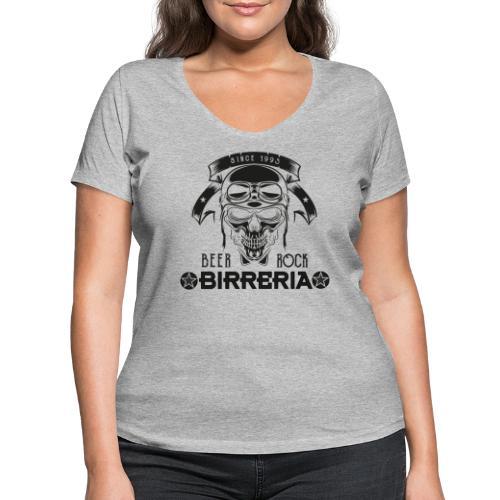 Classic Birreria Rock Skull - Frauen Bio-T-Shirt mit V-Ausschnitt von Stanley & Stella