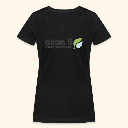 Akan Black - Ekologisk T-shirt med V-ringning dam från Stanley & Stella