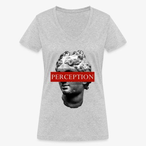 TETE GRECQ RED - PERCEPTION CLOTHING - T-shirt bio col V Stanley & Stella Femme
