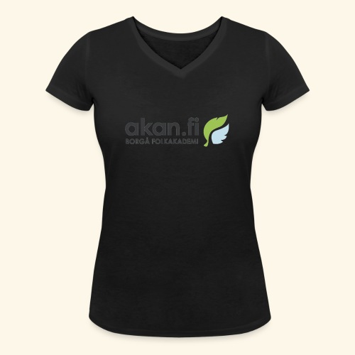 Akan Black - Stanley & Stellan naisten v-aukkoinen luomu-T-paita