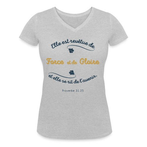 Prov 31 - T-shirt bio col V Stanley & Stella Femme