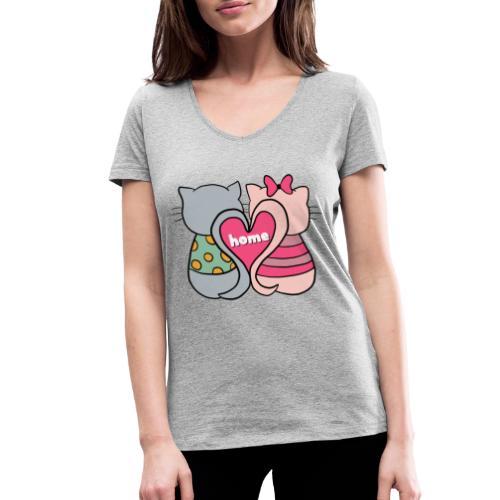 Cats - Women's Organic V-Neck T-Shirt by Stanley & Stella