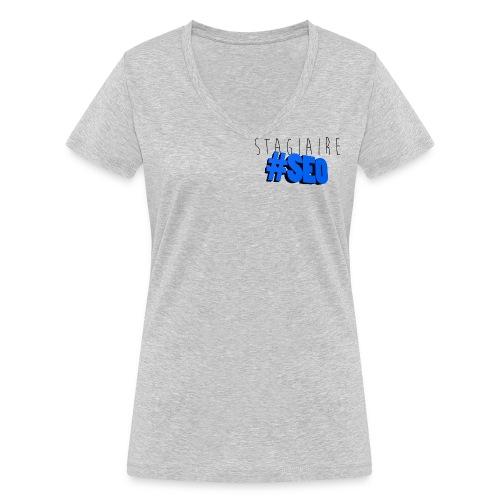 stagiaire-SEO bleu - T-shirt bio col V Stanley & Stella Femme