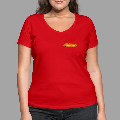 Saukki.com - Stanley & Stellan naisten v-aukkoinen luomu-T-paita