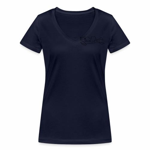 Nice Life - T-shirt ecologica da donna con scollo a V di Stanley & Stella