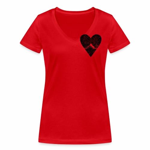 Bergliebe - used / vintage look - Frauen Bio-T-Shirt mit V-Ausschnitt von Stanley & Stella