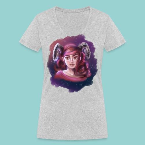 Artsy horns - Frauen Bio-T-Shirt mit V-Ausschnitt von Stanley & Stella