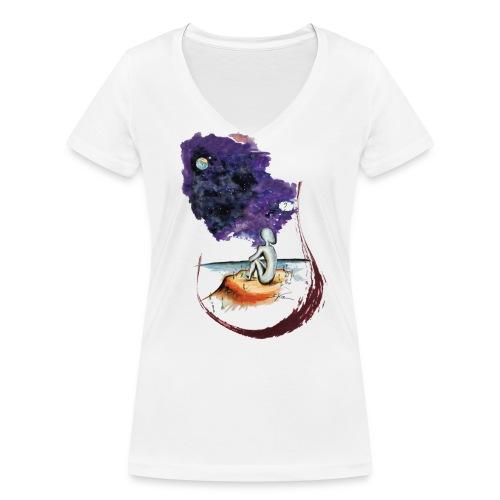 Extraterrestre en contemplation - T-shirt bio col V Stanley & Stella Femme