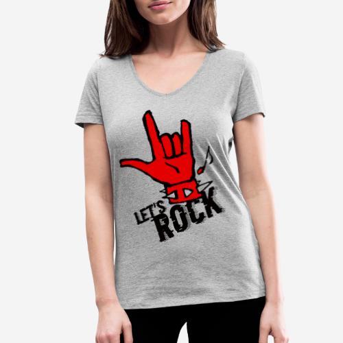 Rockmusik Metal - Frauen Bio-T-Shirt mit V-Ausschnitt von Stanley & Stella