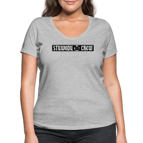 StuWoDu Crew schwarz - Frauen Bio-T-Shirt mit V-Ausschnitt von Stanley & Stella