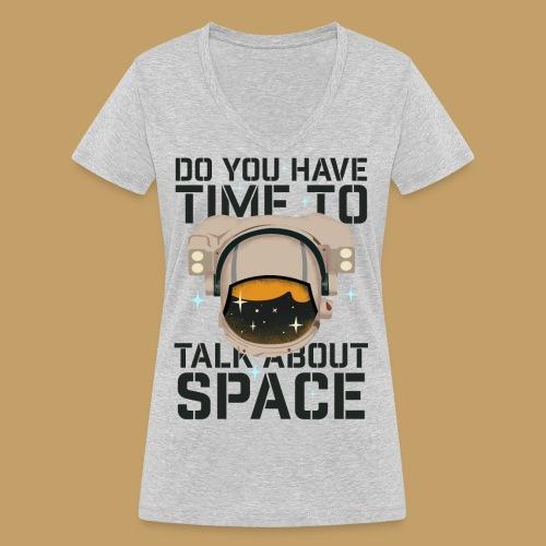 Time for Space - Ekologiczna koszulka damska z dekoltem w serek Stanley & Stella