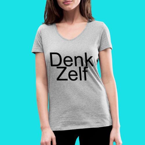 denk zelf - Vrouwen bio T-shirt met V-hals van Stanley & Stella