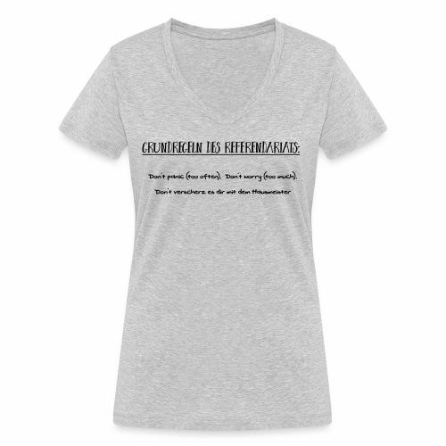 Grundregeln des Referendariats - Frauen Bio-T-Shirt mit V-Ausschnitt von Stanley & Stella