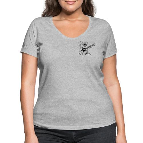 Jimy Rock'n'roll (Black) - T-shirt bio col V Stanley & Stella Femme