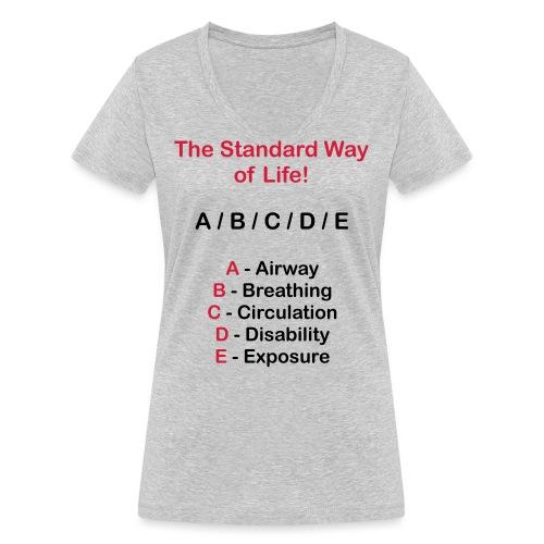 Rettungsdienst ABC Schema - Frauen Bio-T-Shirt mit V-Ausschnitt von Stanley & Stella