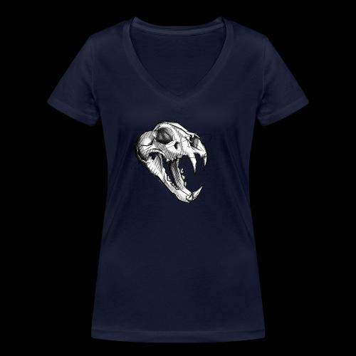 Teschio Tigre - T-shirt ecologica da donna con scollo a V di Stanley & Stella
