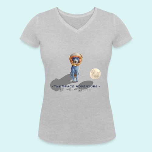 The Space Adventure - Women's Organic V-Neck T-Shirt by Stanley & Stella