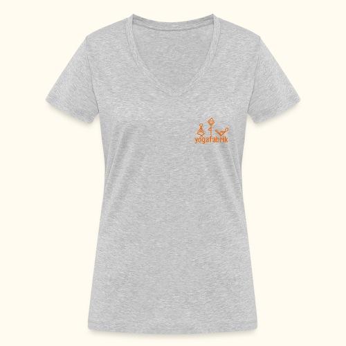 Yogafabrik - Frauen Bio-T-Shirt mit V-Ausschnitt von Stanley & Stella