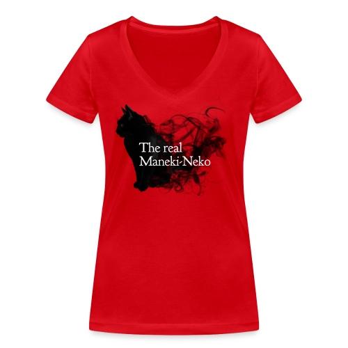 The real Maneky-neko - Camiseta ecológica mujer con cuello de pico de Stanley & Stella