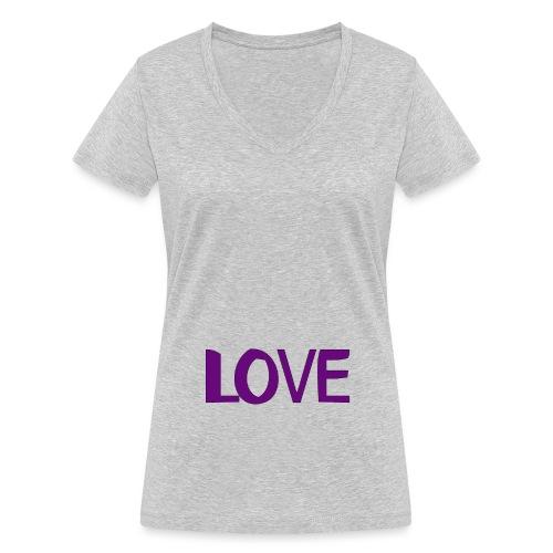 love 1 - Camiseta ecológica mujer con cuello de pico de Stanley & Stella