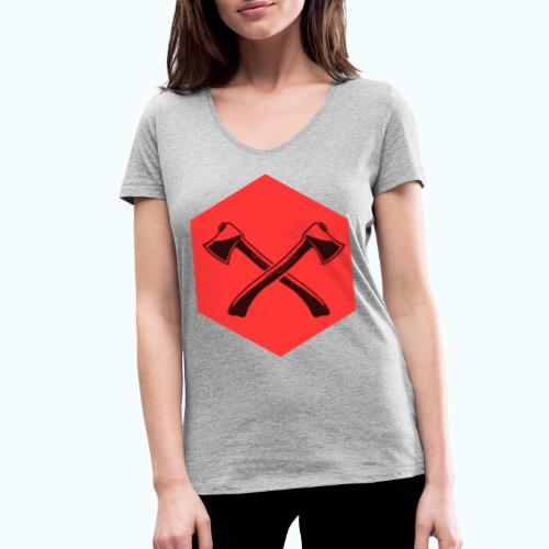 Hipster ax - Women's Organic V-Neck T-Shirt by Stanley & Stella