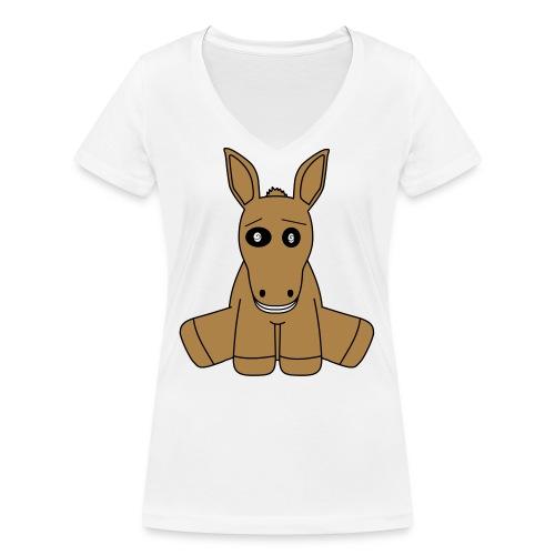 horse - T-shirt ecologica da donna con scollo a V di Stanley & Stella