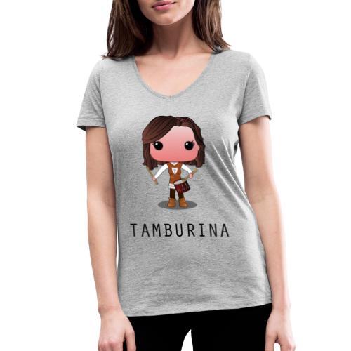 tamburina forenza - T-shirt ecologica da donna con scollo a V di Stanley & Stella