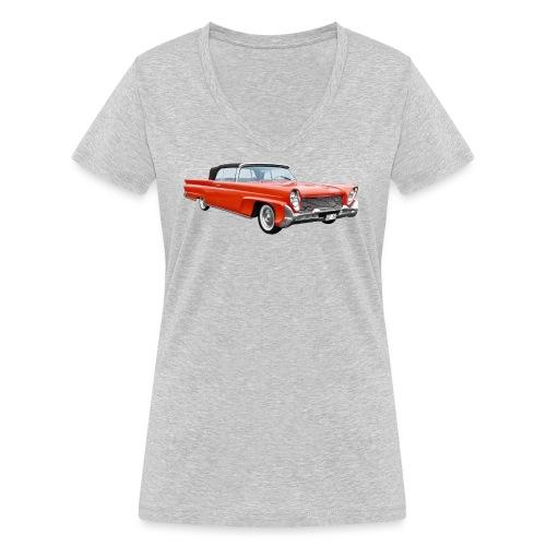 Red Classic Car - Vrouwen bio T-shirt met V-hals van Stanley & Stella