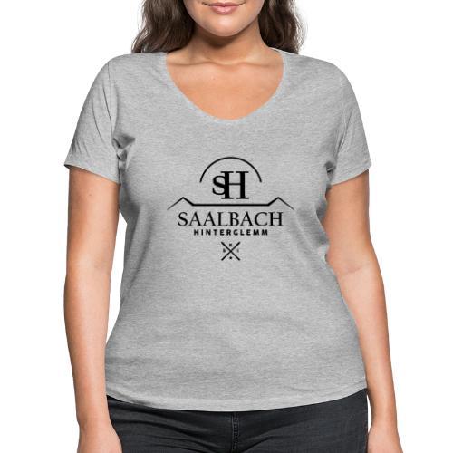 Saalbach embleem SKI-X - Vrouwen bio T-shirt met V-hals van Stanley & Stella