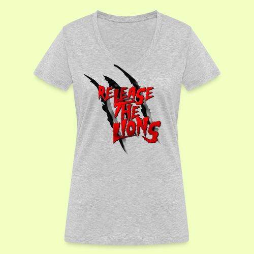 logokleiner png - Frauen Bio-T-Shirt mit V-Ausschnitt von Stanley & Stella