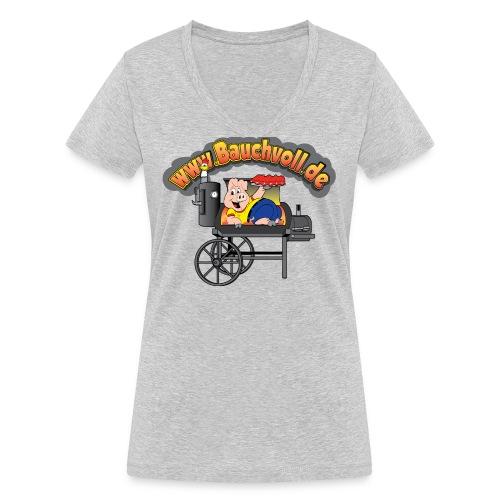 cropped bbq png - Frauen Bio-T-Shirt mit V-Ausschnitt von Stanley & Stella