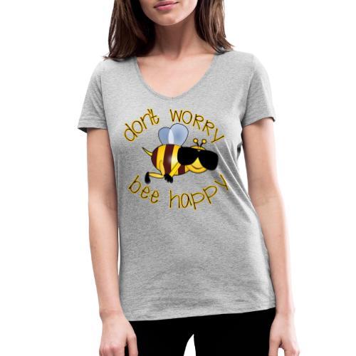 Bee happy, it´s summertime! - Frauen Bio-T-Shirt mit V-Ausschnitt von Stanley & Stella